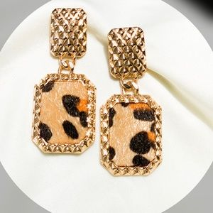 Ferocious Animal Print Earrings